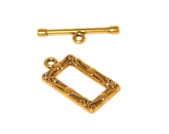 20 x 12mm Antique Gold Toggle Clasp