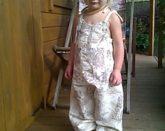 toddler jumpsuit, baby romper, vintage girls jumpsuit, romper suit 1 -2 years bespoke handmade romper