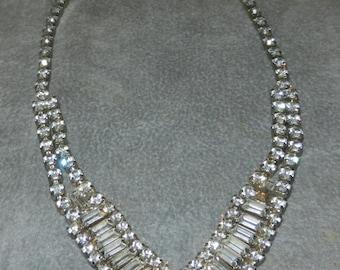 SALE Midcentury Rhinestone Necklace