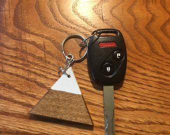Maple Mountain Keychain