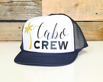 Cabo Crew Trucker Hat | Cabo Hat | Cabo Crew | Girls Cabo Trucker Hat | Trucker Hats | Cabo Gift Ideas | Cabo Honeymoon | Mexico Hats