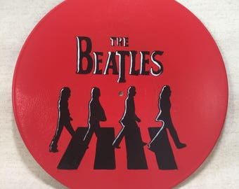 The Beatles Abbey Road Vinyl Record Hand Painted