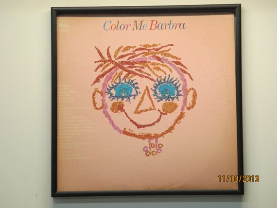 Glittered Record Album - Barbra Streisand - Color Me Barbra