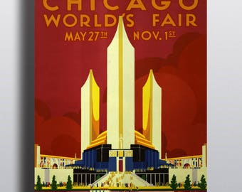 Chicago 1933 World's Fair Poster - Advertising Vintage Poster Print