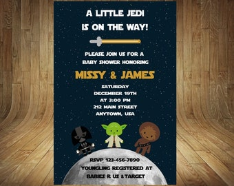Star Wars Baby Shower Invitation, Star Wars Baby Shower, Star Wars Gender Reveal, Star Wars Gender Neutral, Star Wars Shower Invitation