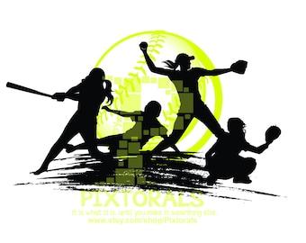 softball clipart etsy rh etsy com softball clipart images free softball clipart for silhouette