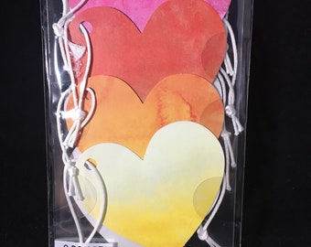 Watercolor Ombre Heart Tags Jolees Boutique