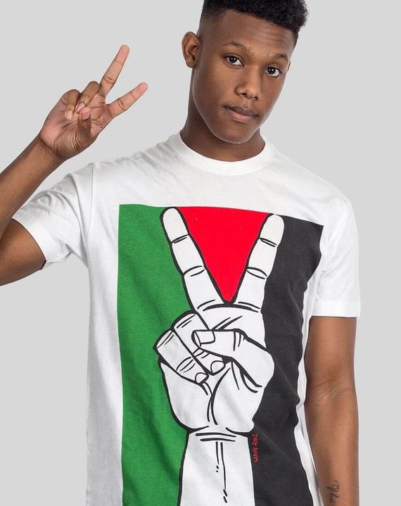 Free Palestine Gaza Conflict Political T-shirt by ALLRIOT