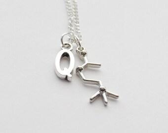 Molecule Jewelry, Acetylcholine Molecule Necklace, Acetylcholine Necklace, Acetylcholine Gifts, Acetylcholine Jewelry, Molecule Necklace