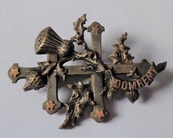 Rare Unusual old brooch St. Joan of Arc