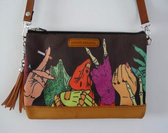 B-Movie Zombie Horror Hands Black Handbag