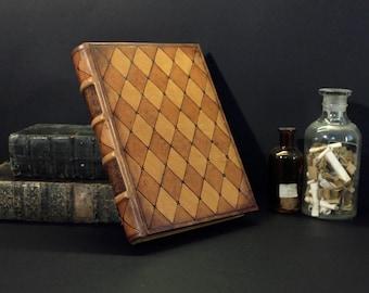 Naturleder Journal / leeres Buch, nachgerüstet Dekoration - romantische Momente