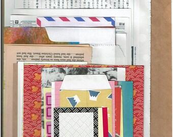 Over 50 pieces random paper goodies, journaling,Junk journal supplies, scrapbooking ,collage materials,vintage paper,art journal