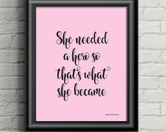 Motivational Wall Art, Inspirational Quote, Feminist Wall Art, Motivational  Quote, Uplifting Quote
