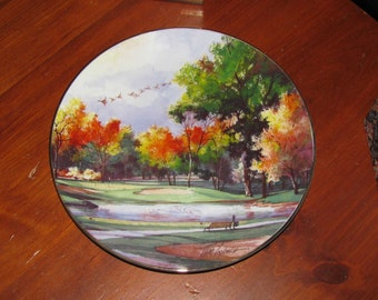 Tom Lynch limited edition plate, Autumn Classic