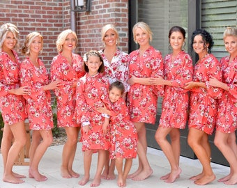 Bridesmaid Robes -Floral Robes -Getting Ready Robes -Bridal Party Robes  -Kimono Robes***Discount for Multi Orders, Please message us**