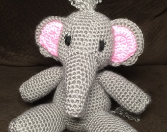 Crochet Amigurumi Elephant Made to Order