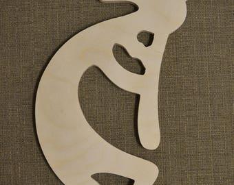 Wood Kokopelli, Southwestern, Native American, Wall Art, Home Decor, Housewarming, Gift, Patio Decor, Crafting Shapes, Wood Shapes