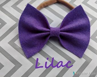 Lilac Felt Bow