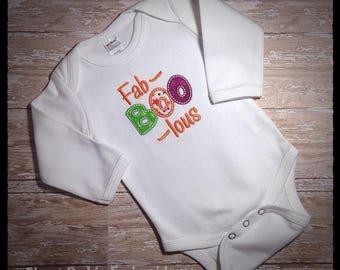 Fab-Boo-Lous Applique Shirt, Girl's Halloween Applique Shirt
