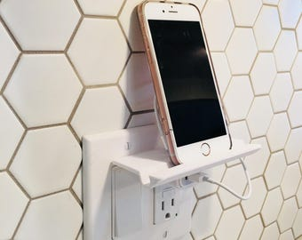 Phone Stand   Phone Holder   Stand   Outlet   Tablet Charger   Charging Station   Wall Decor   Wall Mount   Organization   Phone Storage