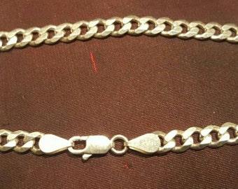 Hand designed solid sterling silver link bracelet.