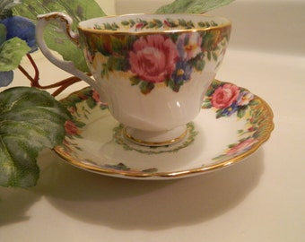 On Sale................Tapestry Rose Cup and Saucer Paragon Fine Bone China England