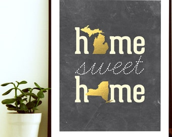 Moving gift etsy home sweet home home sweet home print new home gift moving away gift negle Choice Image