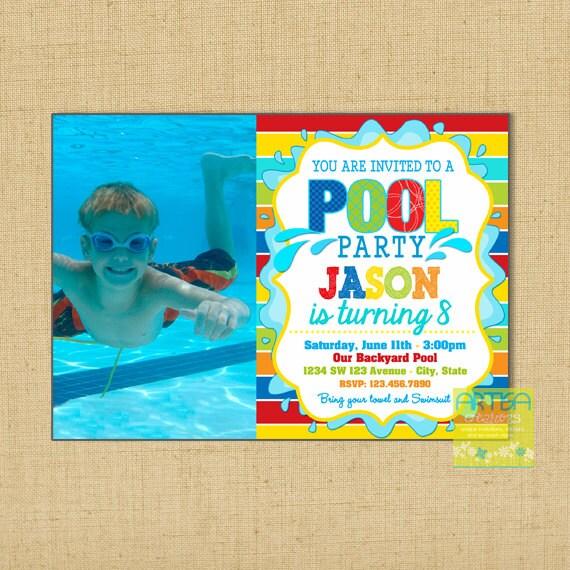 Pool Party Einladung Pool Party Einladung Geburtstag junge