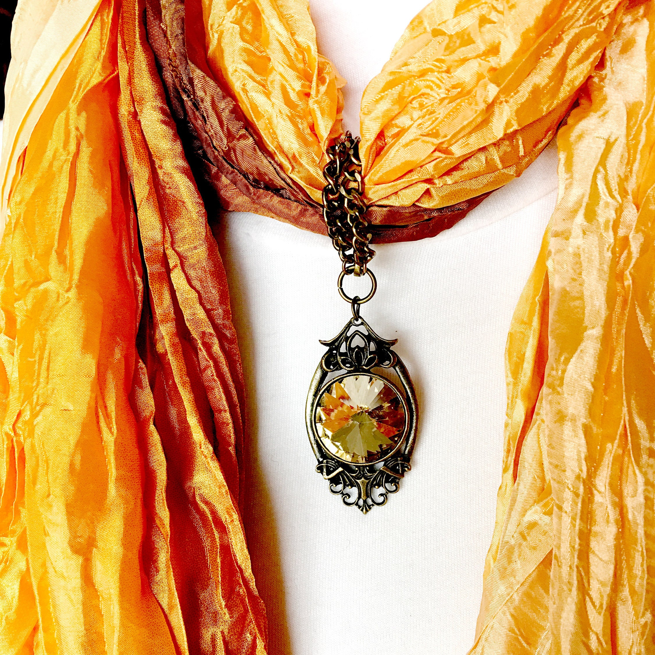 Yellow topaz scarf pendant scarf jewelry ring gold scarf slide yellow topaz scarf pendant scarf jewelry ring gold scarf slide scarf necklace jewelry scarves for women gold scarf clip aloadofball Choice Image