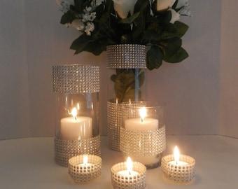 Wedding centerpiece floating candle holderWedding decor