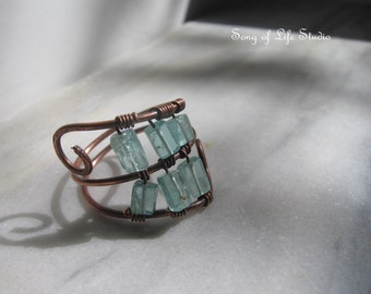 Blue Copper Ring