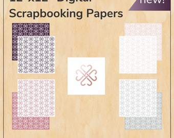 Digital scrapbook papers - scrapbooking for Jamberry - Digital PDF files