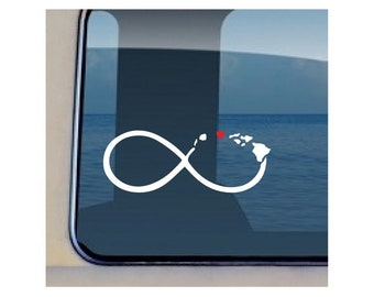 Infinity Islands Heart Maui Decal