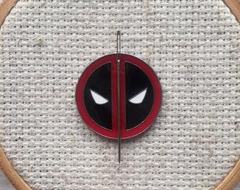 Deadpool Needle Minder - Deadpool Magnet for Cross Stitch - Marvel Comics Needle Minder - Deadpool Cross Stitch Magnet