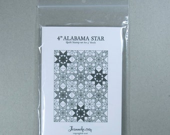 4 inch ALABAMA STAR Quilt stamp set (only rubbers)