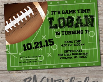 Football game invite Etsy