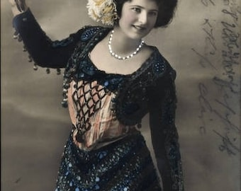 c.1912 OPERA Real Photo CARMEN, P.M.B. 4295-3; Beautifully Hand Painted;  Postally used, Excellent condition.