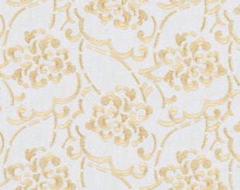 Suburban Home, Floral Embroidered Fabric