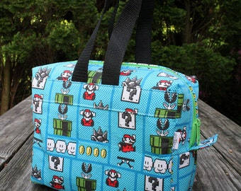 Star Wars DInsulated Lunch Bag Lunch Box Cooler Rectangle Mario Bros Ready To Ship