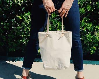 Bag canvas grocery / grocery bag canvas / shopper tote bag / cotton shopping tote / grocery shopping tote reusable / eco conscious canvas