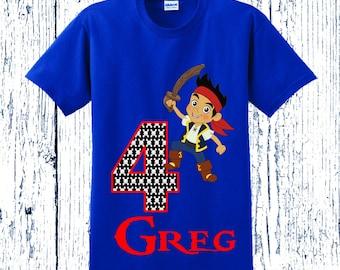 Jake and the Neverland Pirates Birthday Shirt