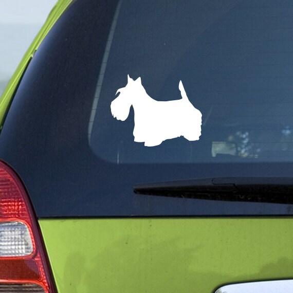 scottish terrier voiture sticker vinyle autocollant de voiture. Black Bedroom Furniture Sets. Home Design Ideas