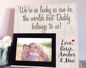 Fathers Day Gift - Personalized Gift For Dad - Dad Birthday Gift - Gift For Husband - Gift For Grandpa - New Daddy Gift - Custom Frame
