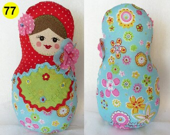 Babushka Matryoshka family softie plush doll pillow gift