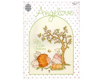 Angel Love Cross Stitch Booklet, Gloria & Pat Cross Stitch Booklet, Children Cross Stitch Patterns, Children's Patterns, NewYorkTreasures