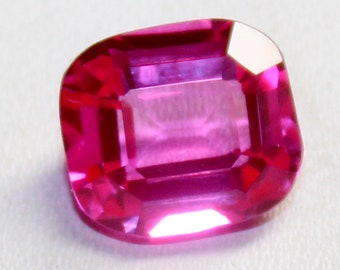4 Ct Natural Cushion Shape Faceted Cut Transparent Pink Sapphire Loose Gemstone New Year IM 7
