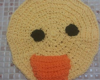Duck Washcloth, Dishcloth, Duckling, Cleaning, Kids, Crochet, Made to Order