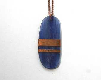 Kyanite and Copper Necklace