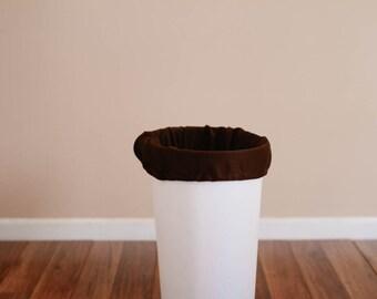 Diaper Pail Liner - Brown Reusable Garbage Pail Liner - Laundry Bag -  Cloth Diaper Pail